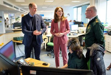 Герцоги Кембриджские посетили станцию скорой помощи в Лондоне (фото, видео)