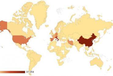 Коронавирус - карта распространения 28 марта