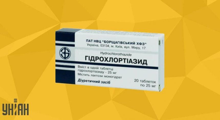 Гидрохлортиазид фото упаковки