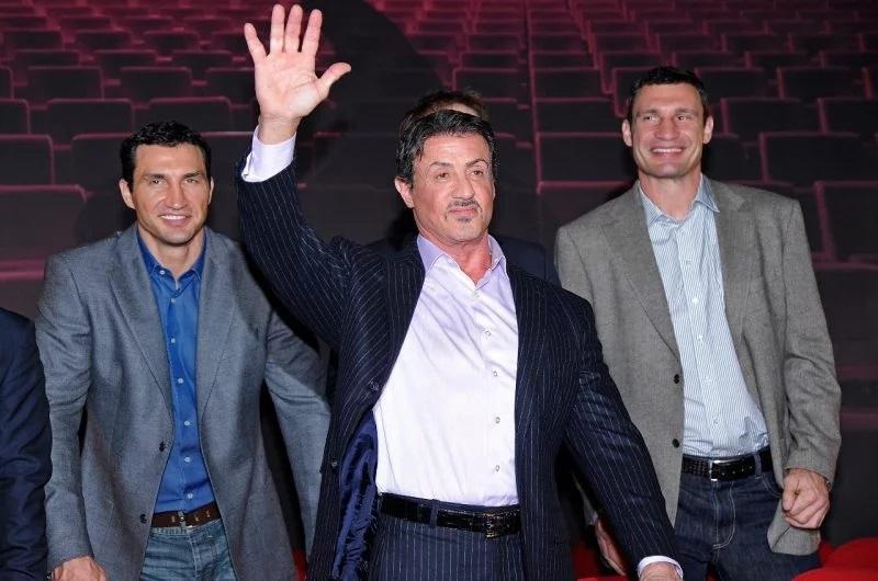 Брати Клички і сільвестр Сталлоне - давні приятелі / фото: boxingscene.com