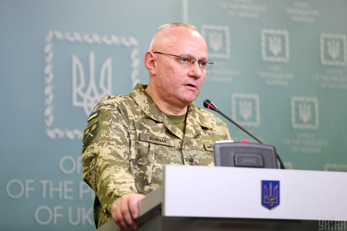 Khomchak briefs on the Army's preparedness in Donbas / Photo from UNIAN
