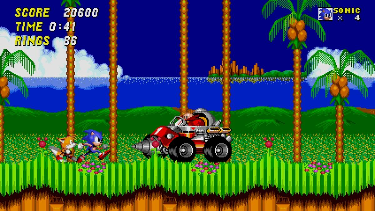 Кадр из игры Sonic the Hedgehog 2 / скриншот