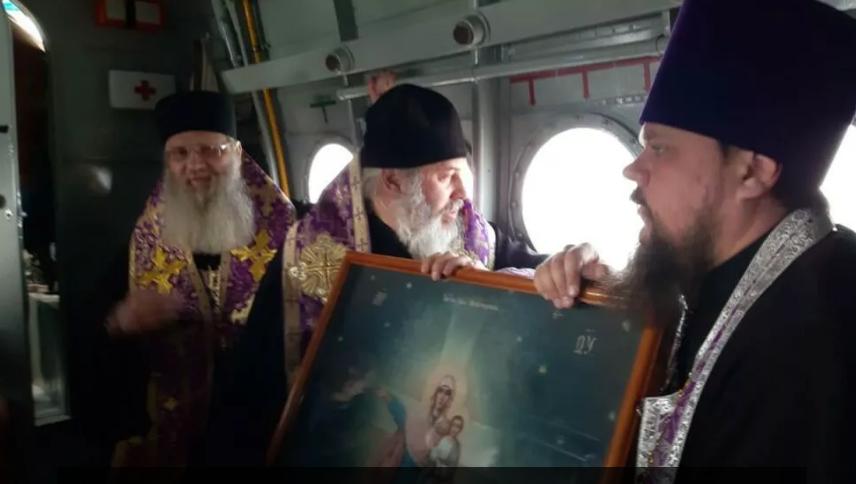 """Російські священники провели молебень проти """"смертоносної зарази"""" / прес-служба Волгоградської єпархії"""