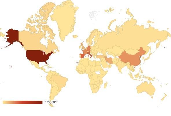 Карта поширення коронавіруса 7квітня 2020