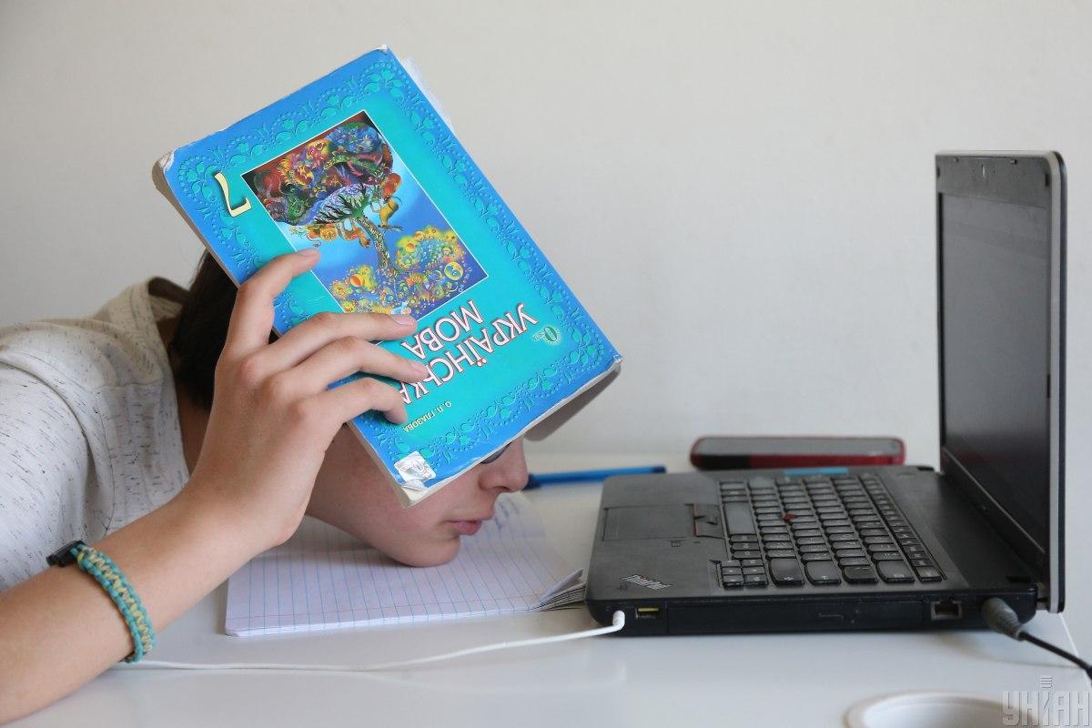 Украинские школьники сейчас учатся дистанционно / фото УНИАН