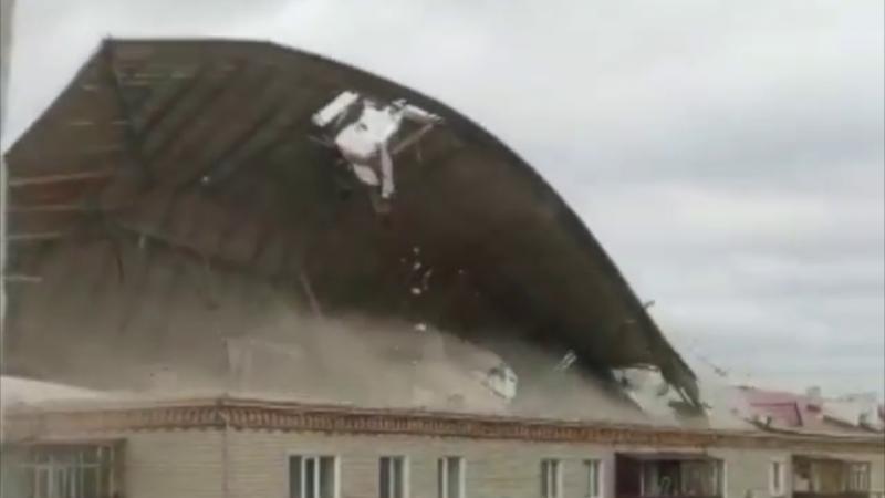 В Казахстане бушевал ураган / скриншот