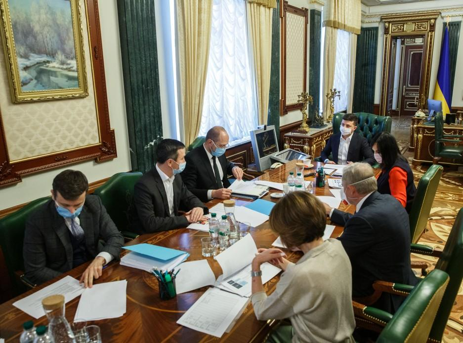 Кабмін і НБУ представили Зеленському програми допомоги малому бізнесу / фото president.gov.ua