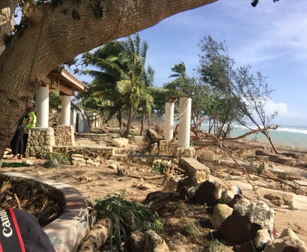 """Тропічний циклон """"Гарольд"""" приніс негоду на острови Тонга / twitter.com/TongaPolice"""
