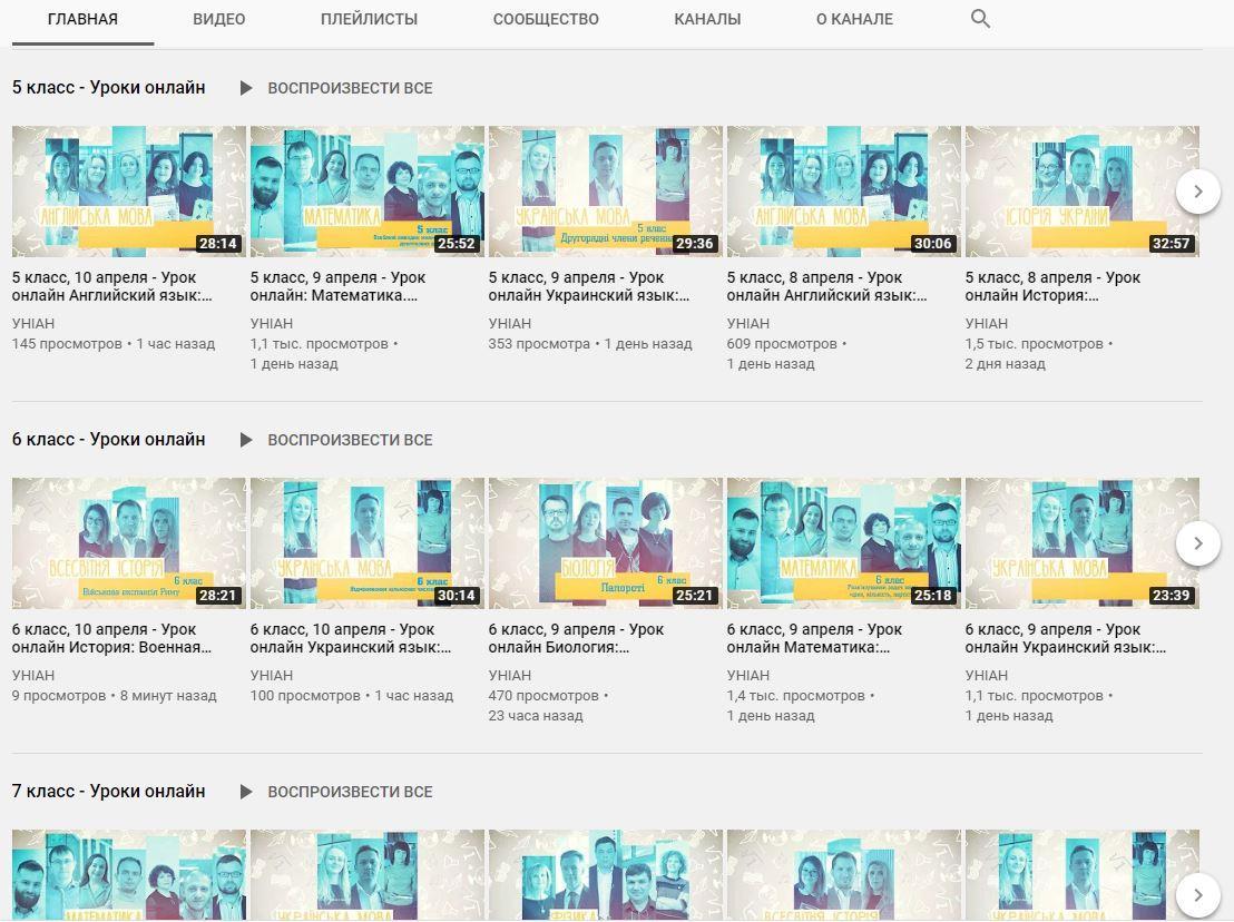 YouTube-канал УНИАН