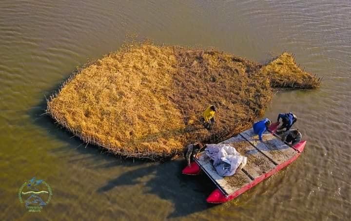 Остров сделали из браконьерских сетей / Фото: Иван Русев