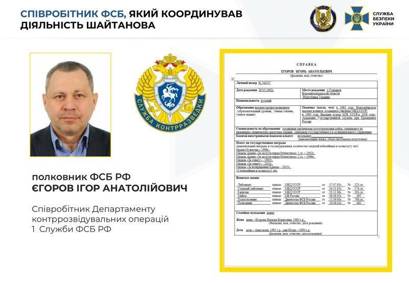 FSB handler Igor Yegorov / ssu.gov.ua