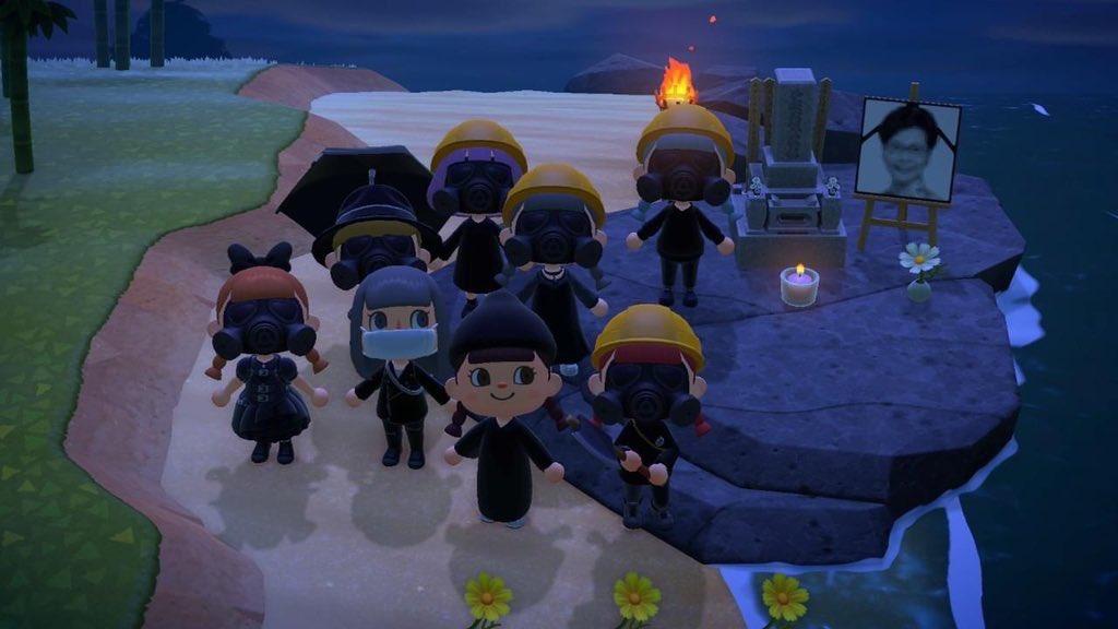 Протесты в Animal Crossing: New Horizons / twitter.com