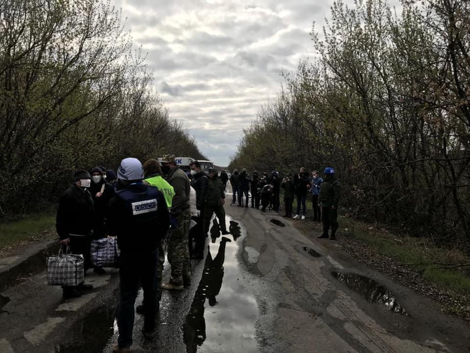 В апреле на Донбассе провели очередной обмен пленными / фото ОП