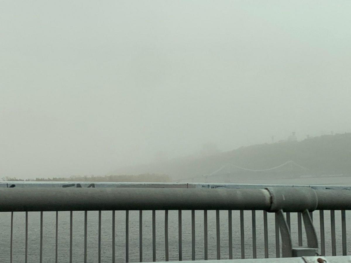 Киев накрыло пылевое облако \ УНИАН