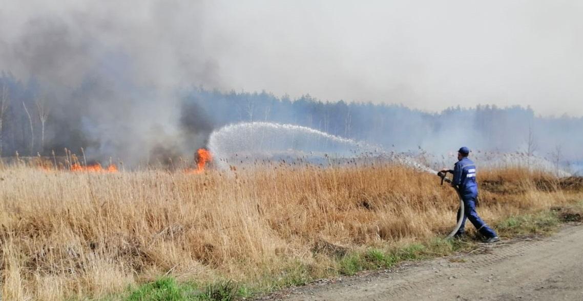 Сжигание травы спровоцировало задымление на дорогах / ГСЧС