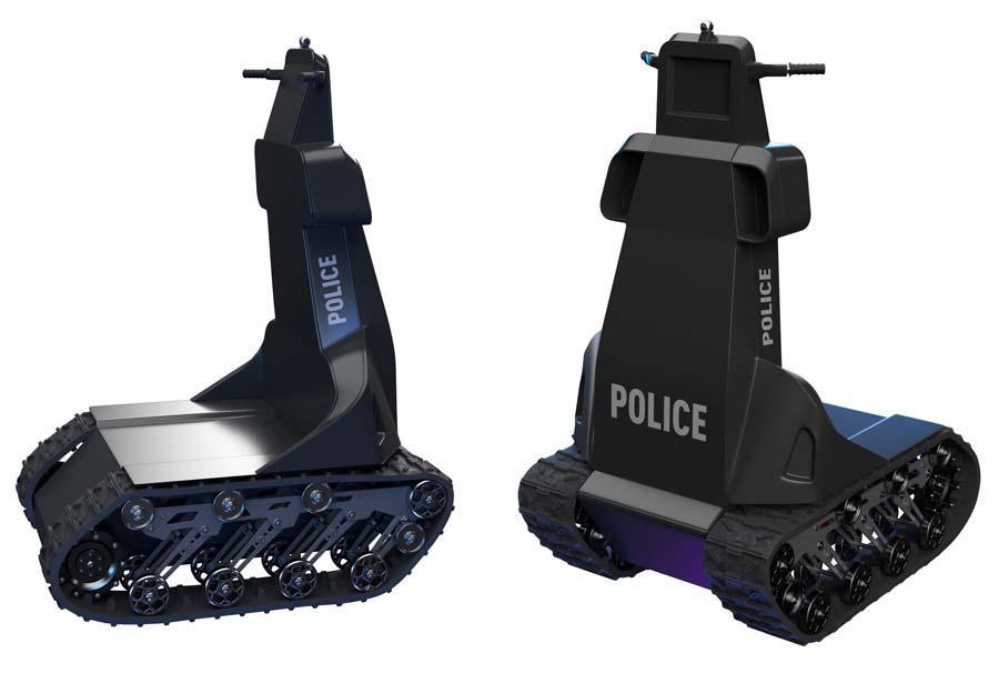 Робот оснащен, в частности, слезоточивым газом с дистанционным управлением / defence-ua.com