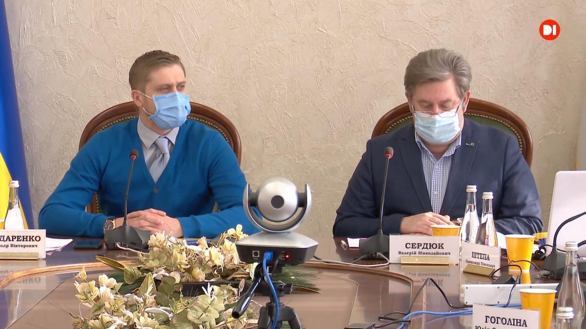 Участие в телемосте взял глава Днепропетровской ОГА Александр Бондаренко/ скриншот из видео