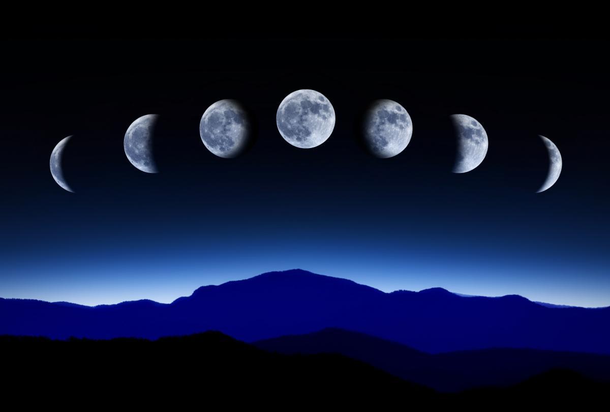 Луна находится в фазеНовая Луна /фото: ua.depositphotos.com