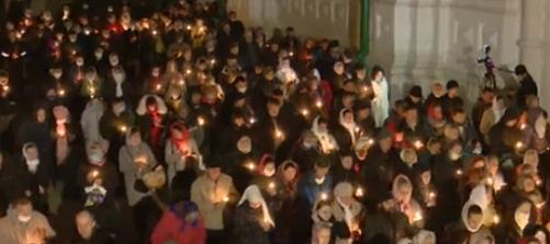 Верующие массово нарушали карантинные правила / Скриншот с трансляции телеканала NewsOne
