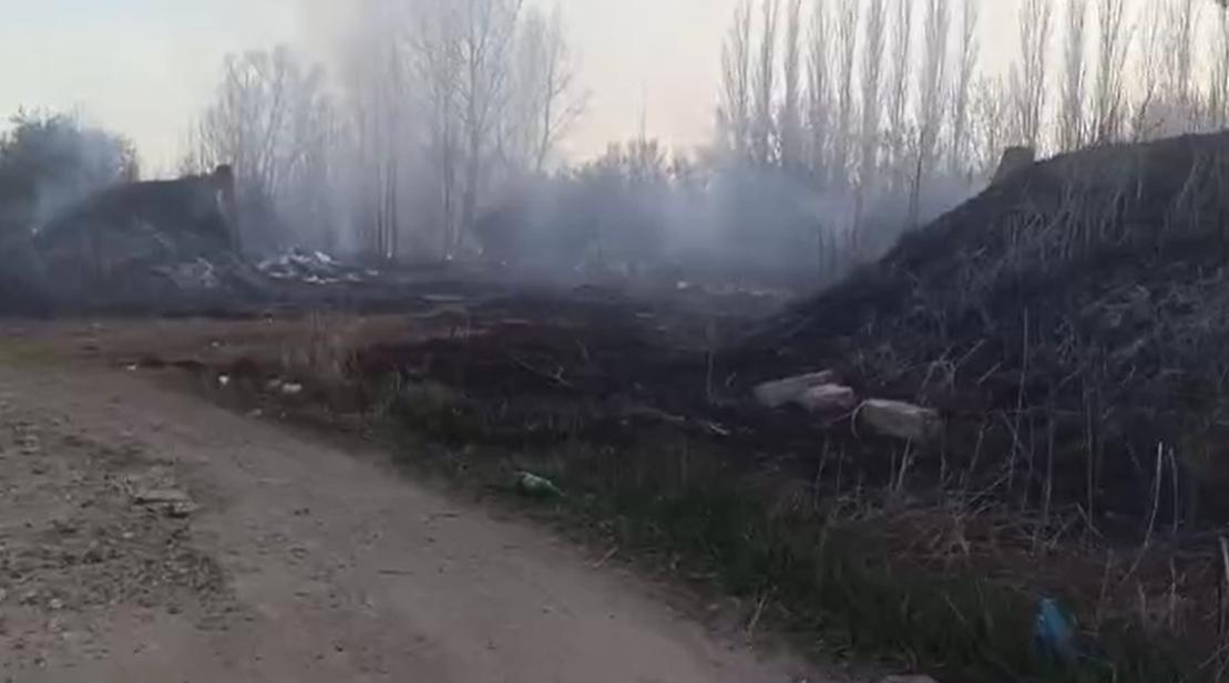 Под Киевом - еще один пожар/ Cкриншот