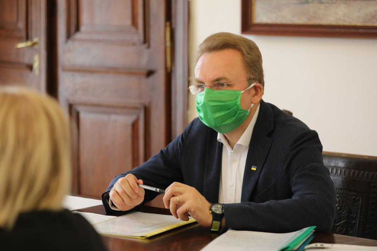 Садовый вернулся к работе после перенесенного COVID-19 / фото facebook.com/hrystyna.protsak