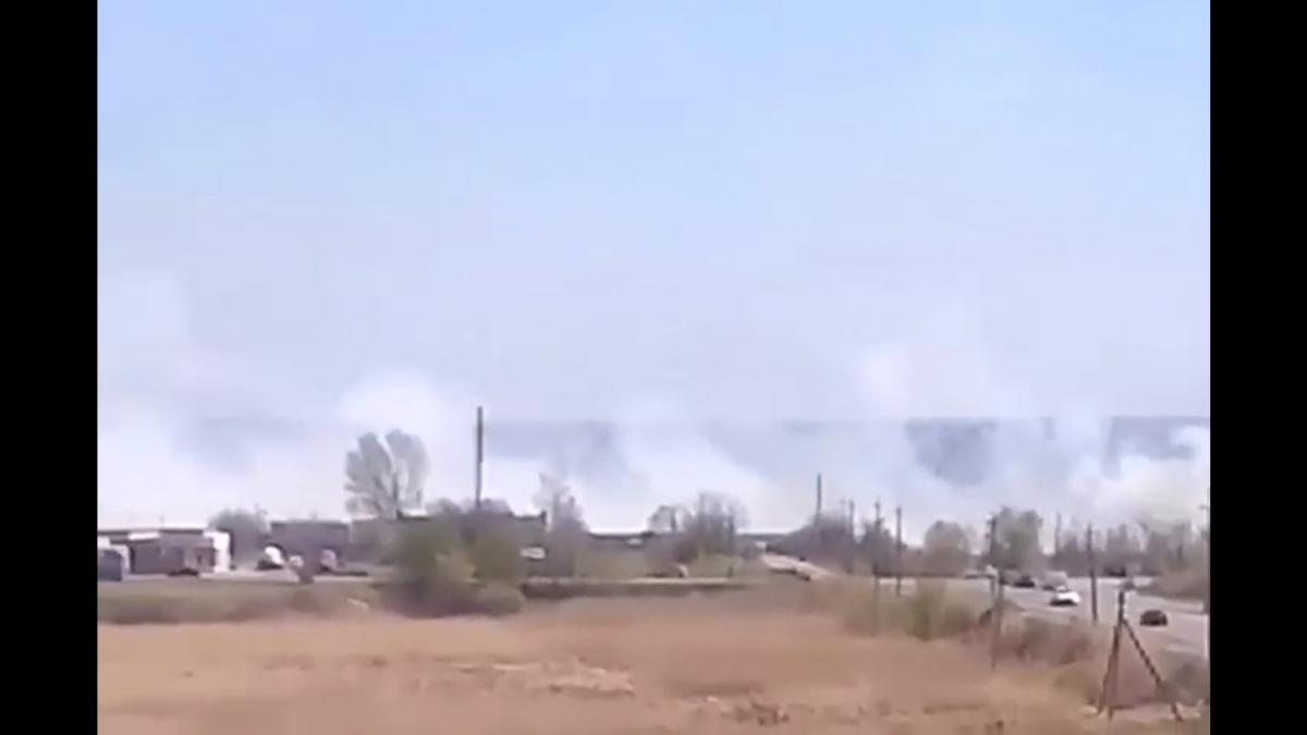 Screenshot of eyewitness' footage