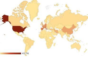 Коронавірус - карта поширення 9 квітня