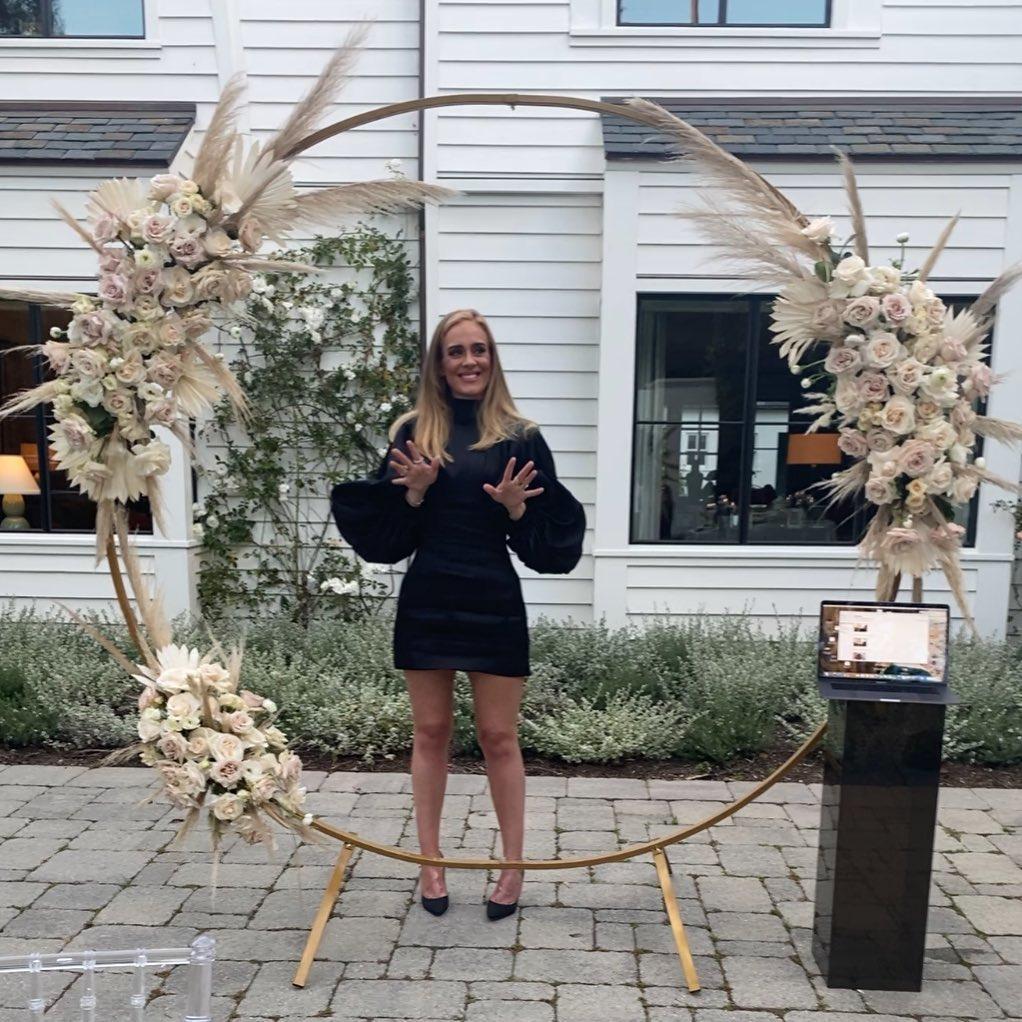 Адель показала фигуру в концертном платье/ Фото Instagram Адель