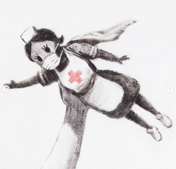 В английской больнице нашли новую картину Бэнкси / Фото: instagram.com/banksy