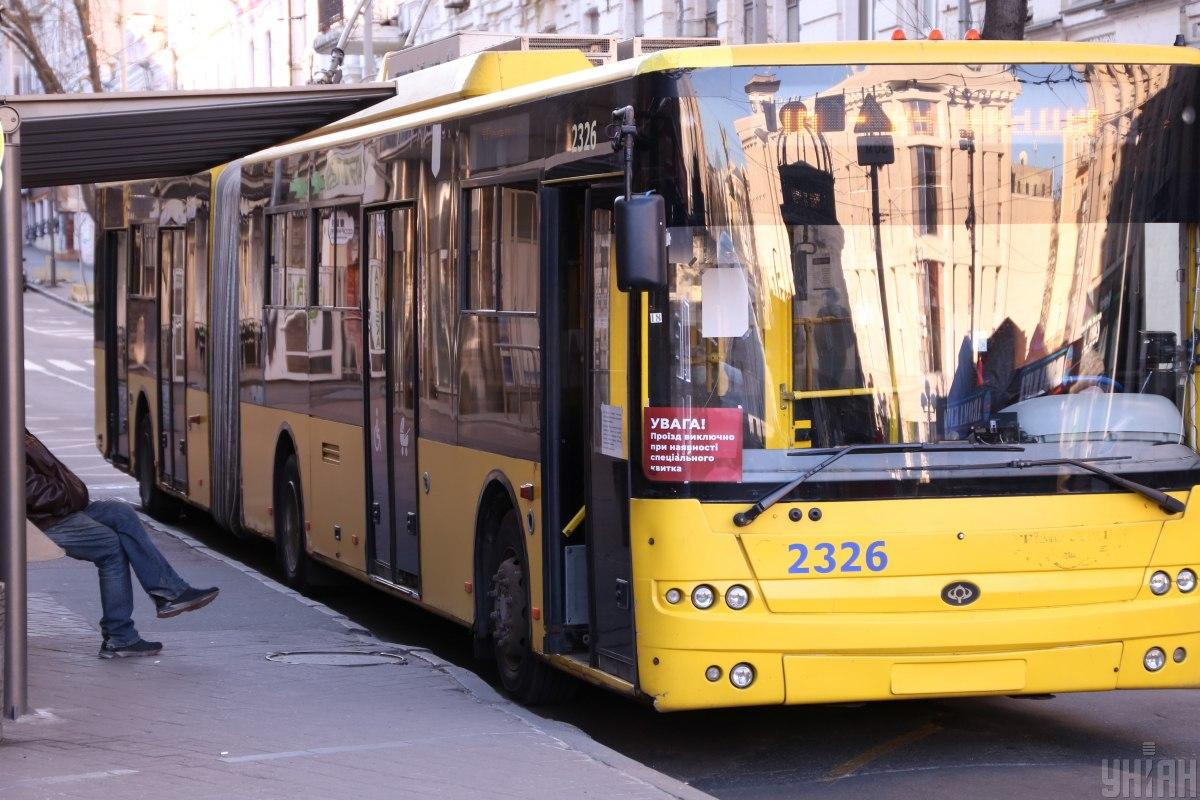 В Киеве ограничат движение троллейбусов и автобусов / фото УНИАН