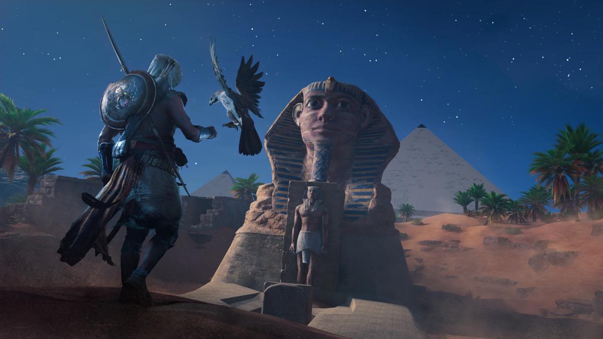 В Assassin's Creed Origins можно даже залезтьна Сфинкса/ store.steampowered.com