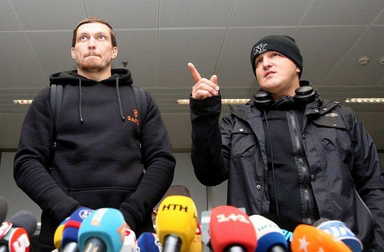Александр Усик и Александр Красюк / фото УНИАН