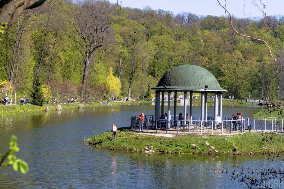 У парку Феофанія є чотири озера / фото УНІАН