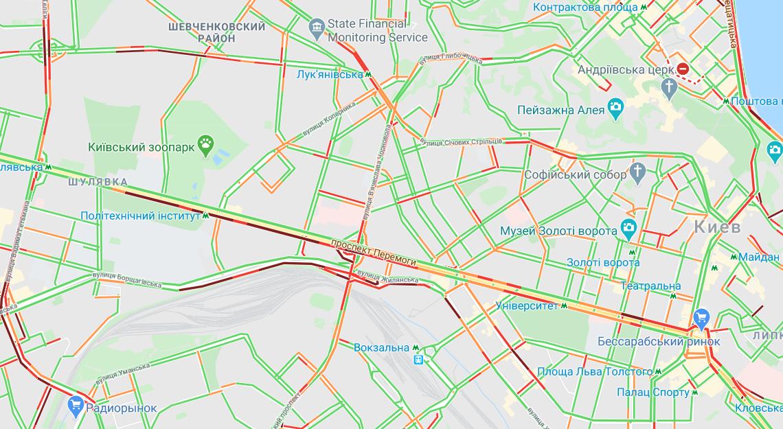 У центрі міста ситуація менш складна / Google Maps