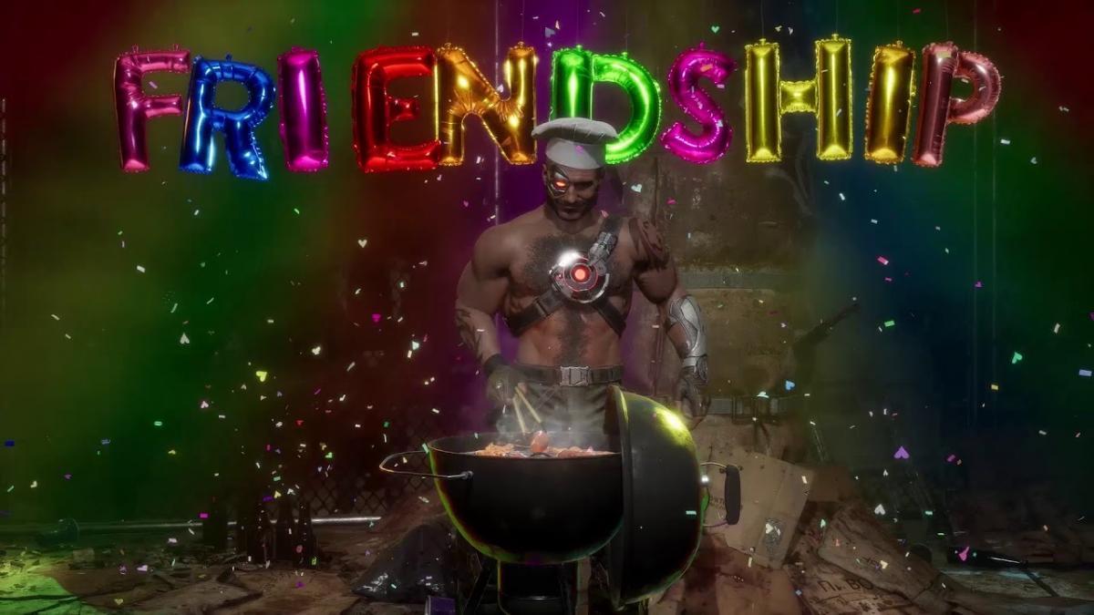 Кано жарит сосиски в новом трейлере Mortal Kombat 11 / скриншот