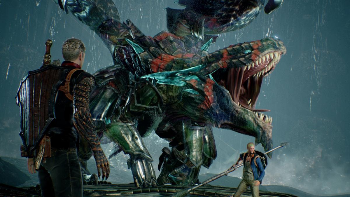 Кадр из игры Scalebound / ign.com
