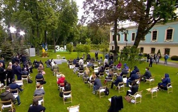 Зеленский проводит пресс-конференцию / Фото: скриншот
