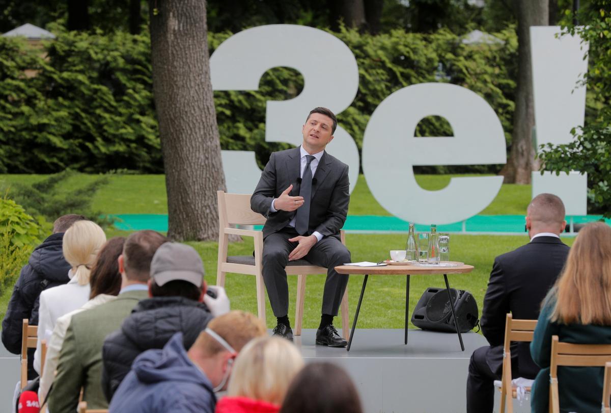 Владимир Зеленский во время пресс-конференции 20 мая / REUTERS