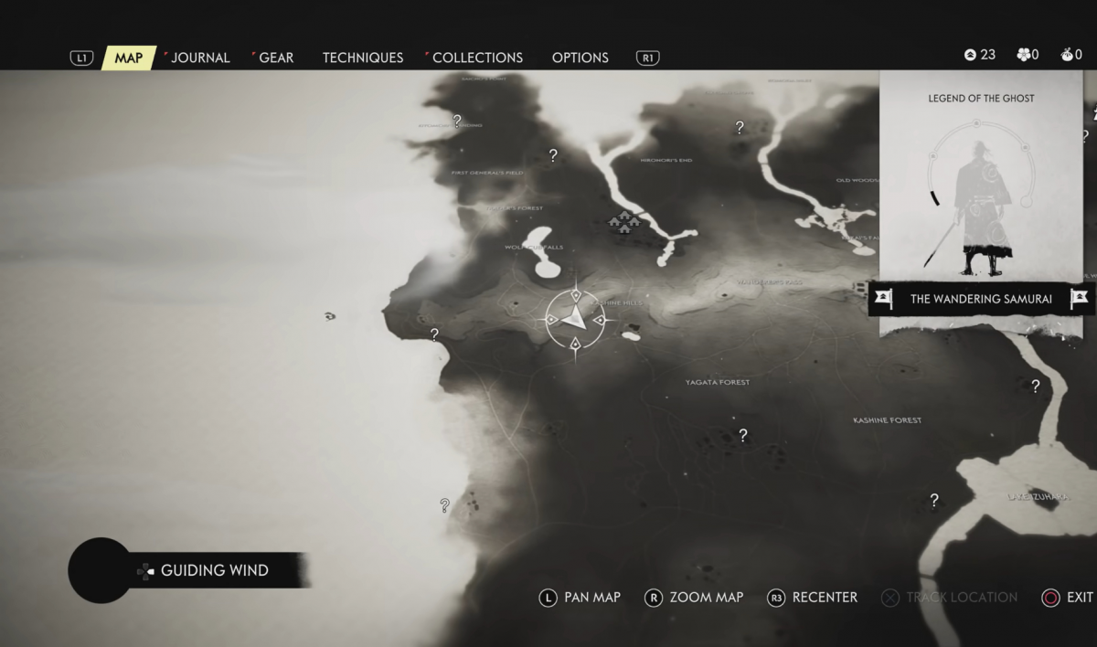 Карта Ghost of Tsushima/ скриншот