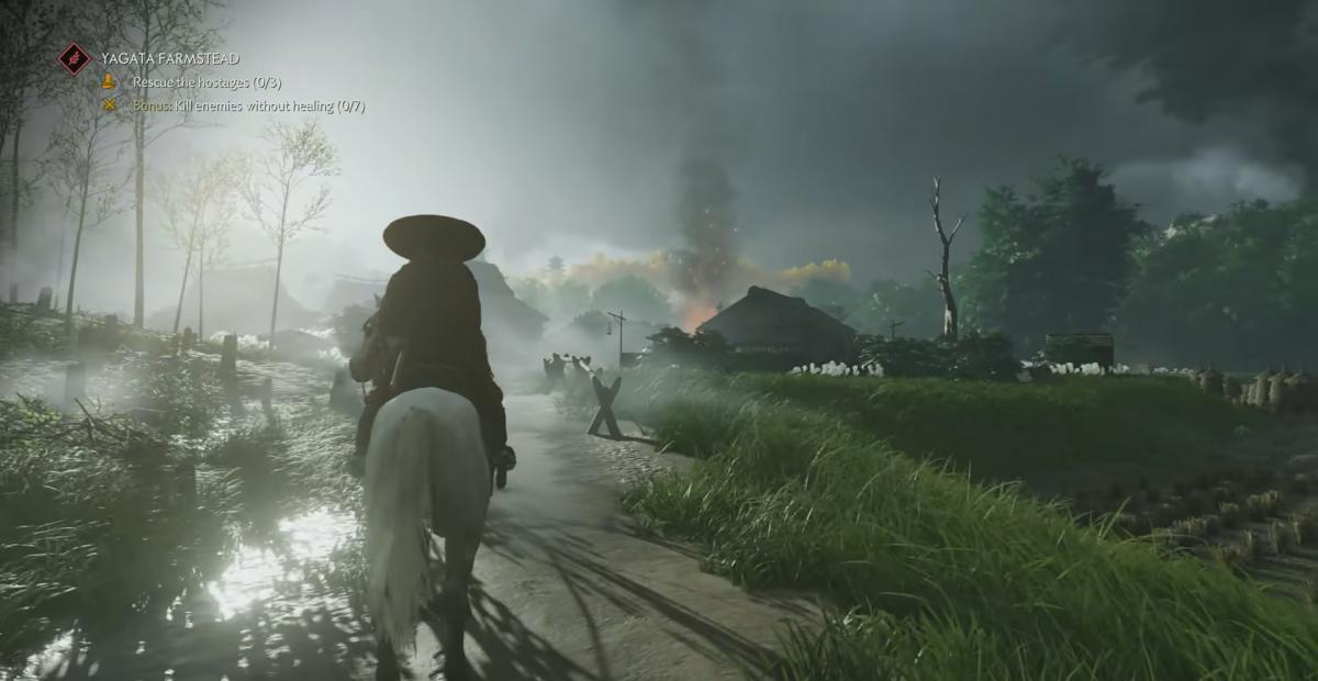 Дым указывает на интересную активность впереди / скриншот