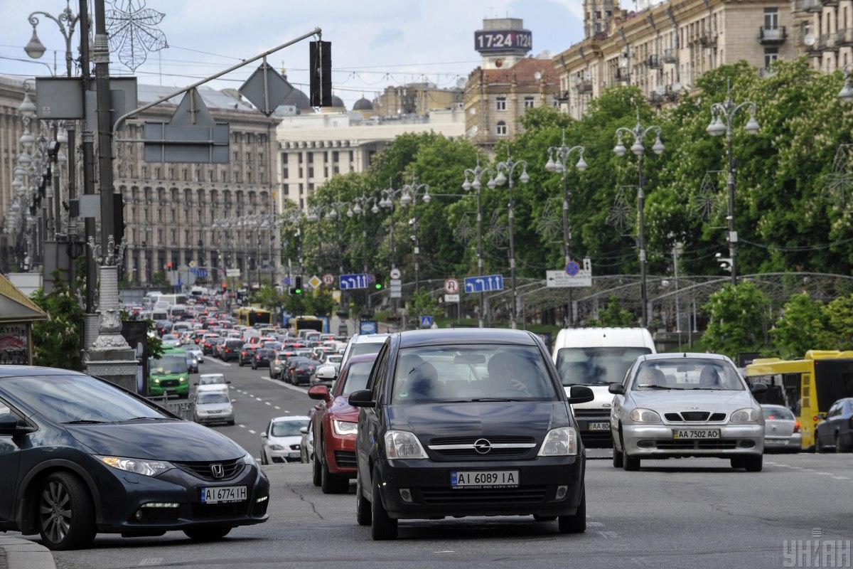 На київських дорогах місцями утворилися затори / фото УНІАН