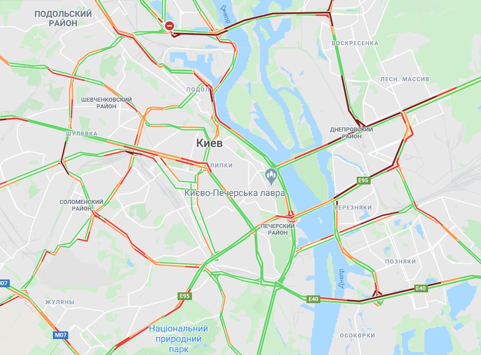 Как проехать в Киеве - карта / Google Maps