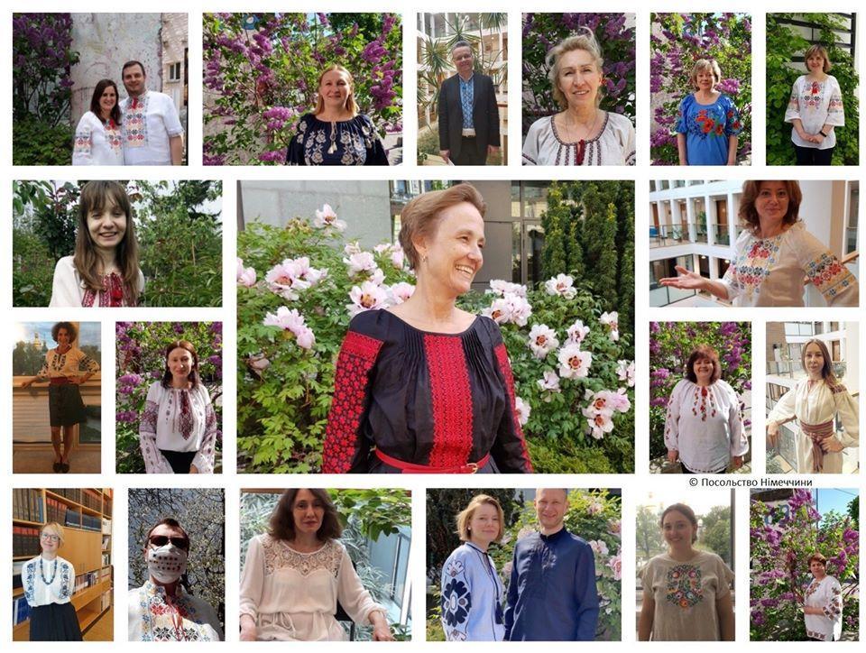 Поздравительный коллаж от посольства Германии / фото: facebook/deutschebotschaftkiew