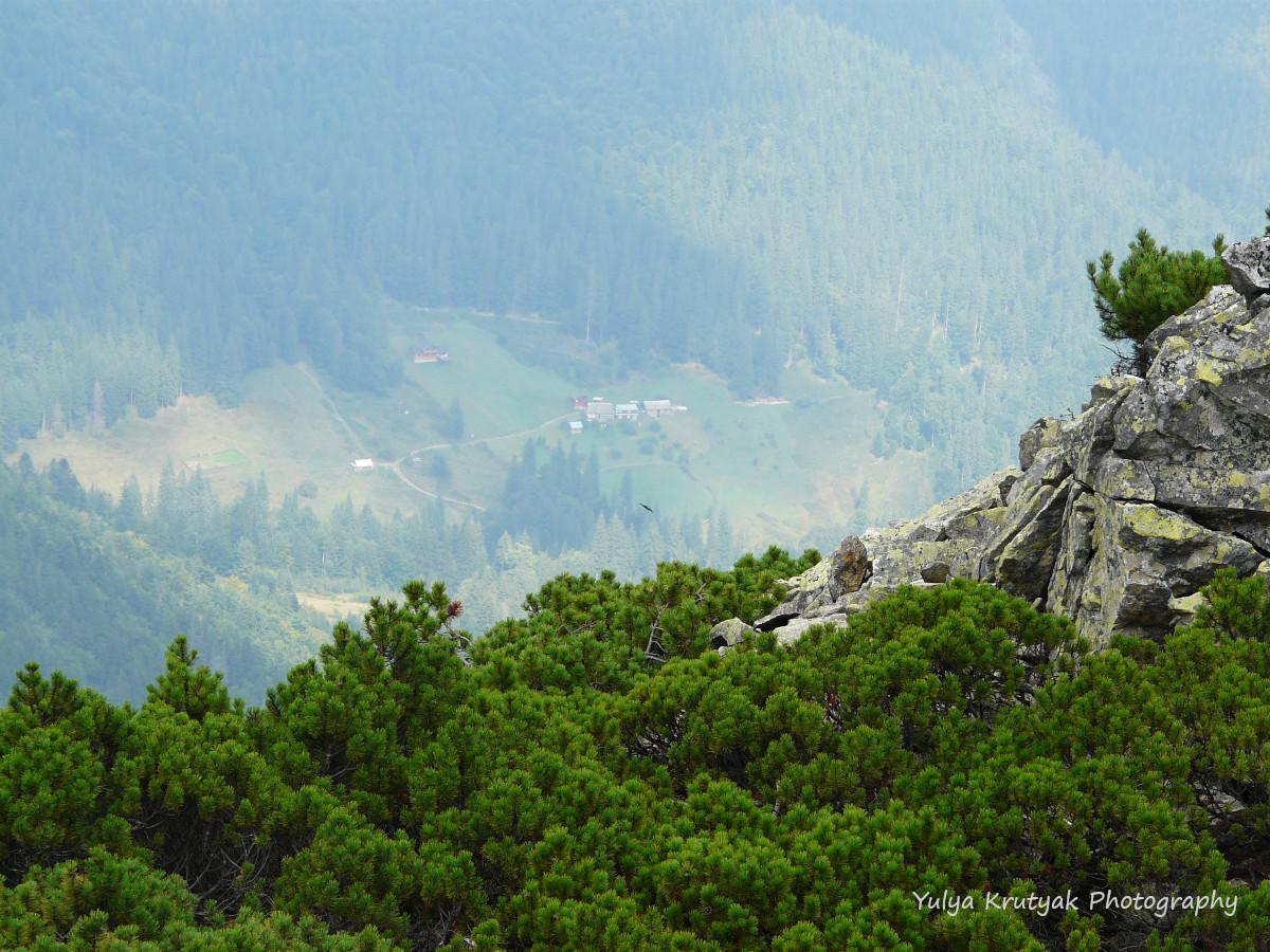 Такі красоти відкриваються з гори / фото Yulya Krutyak
