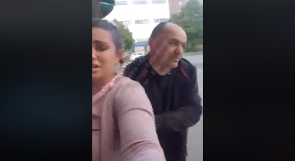 Киевлянка пожаловалась на нападение таксиста/ скриншот