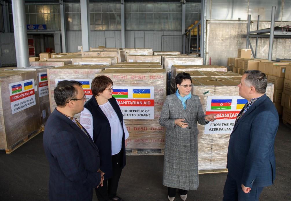 Гуманитарный груз из Азербайджана прибыл в Украину / фото Офис президента