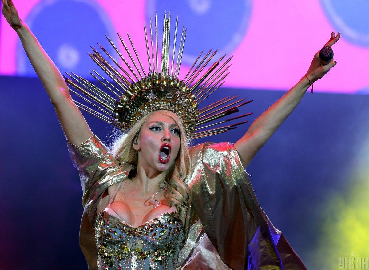 Оля Полякова розповіла, як їй хотіли зірвати концерт / фото УНІАН