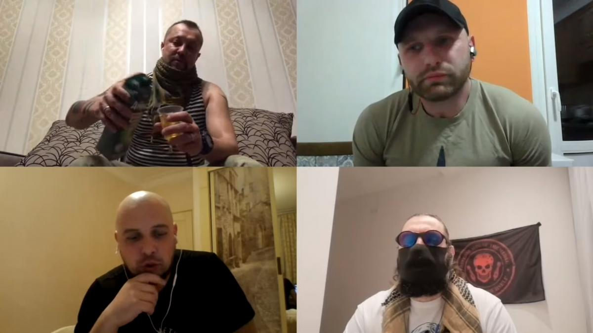 """Экс-боец полка """"Азов"""" на скриншоте из видео сидит в кепке"""