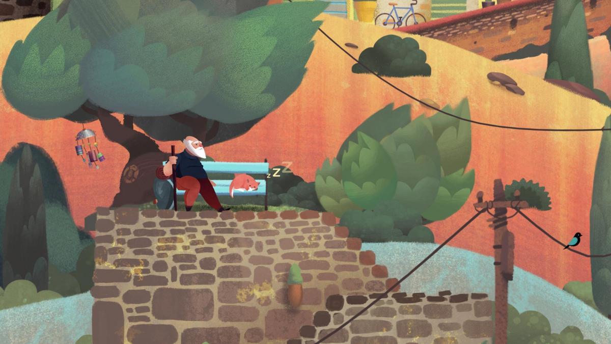 Старик - главный герой Old Man's Journey / store.playstation.com