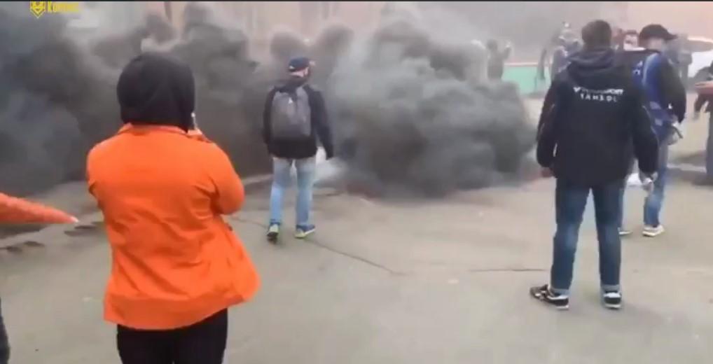 Акция состоялась сегодня днем на ул. Большая Васильковская, 23б/ скриншот из видео